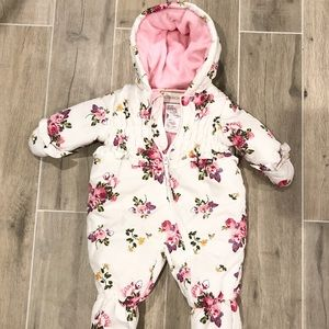 Rothschild floral baby snow suit